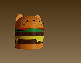 3D print model burger cat