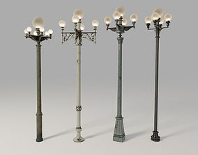 3D Los Angeles Street Lamps Pack