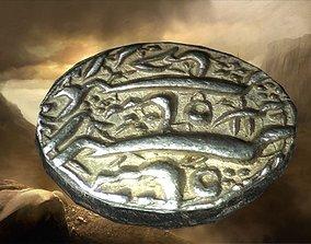 old persian coin 3D asset
