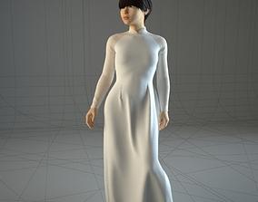 Asian VietNamese girl 3D model vietnam