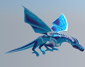 animated The constellation of the dragon 3D model