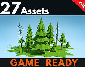 Fir Trees Pack 3D asset