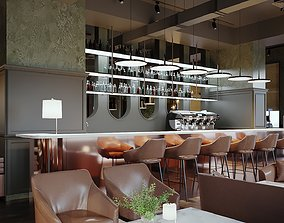 RESTAURANT CAFE PUB FULL SCENE 3D
