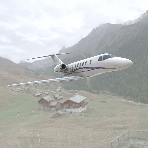 Citation Cessna in the Mountains