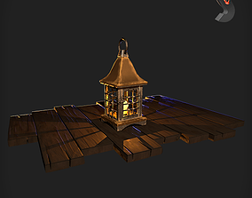 old Old lamp 3D model low-poly