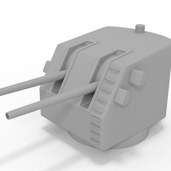 3D Model of 5 inch US Navel Gun