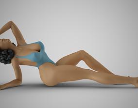 cream Sunbathing on the Beach 3D printable model