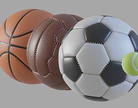 3D model low-poly Balls pack