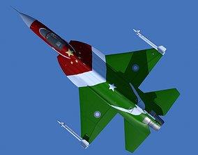 3D asset JF-17 Thunder Low polygon Display version