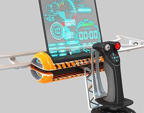 vehicle 3D Mobile control unit with remote joystick