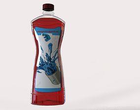 High quality 3d Model liquid bottle 750ml bottle pet