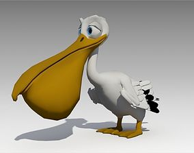 3D asset Pelican Toon Animated
