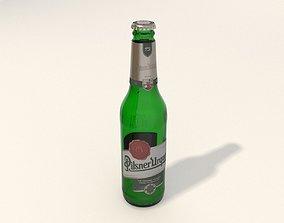 Pilsner Urquell bottle new design 2021 3D model