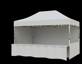 3D model Marketing tent 4-5x3 m