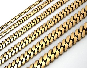3D print model 6 SIZE SMALL CUBAN LINK CHAIN FOR 3