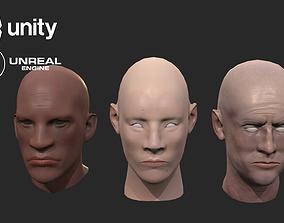 3D model Gameready heads set