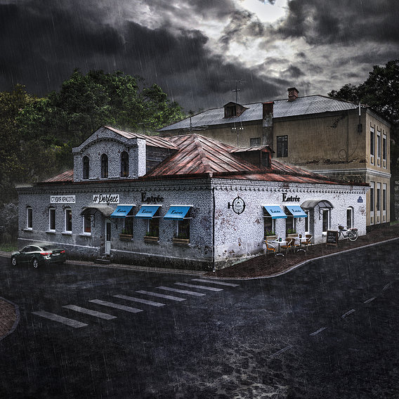 Buildings of a small Russian town