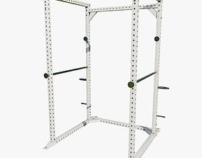 3D model Low Poly Gym Squat Rack Machine