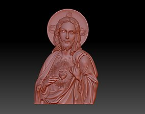 3D print model Jesus and the heart