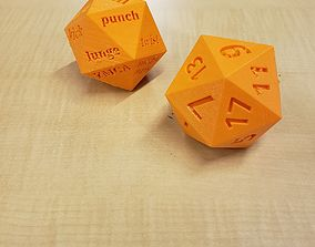 3D printable model Fitness Dice D20
