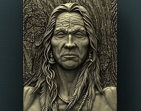 American Native 3d model for CNC