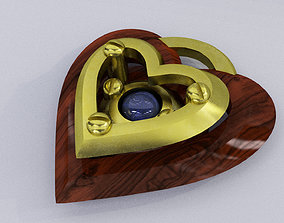 Iron Heart Pendant 3D printable model