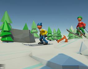 Ski - Props for Winter Runner 3D model