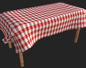 table wooden 3D model low-poly