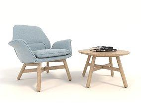 3D model Modern Armchair Design Set 5