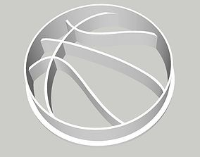 Basketball Cookie Cutter 2 inches 3D print model