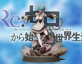 Rem 3d print statue diorama - Re Zero Figurine
