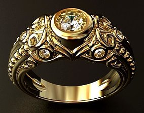 3D print model Gothic Diamond RING O