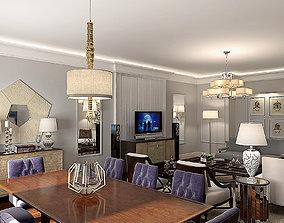 lounge Baker Modern Liveroom 3D model