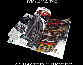 Magazine Opening Rigged Animated 3D
