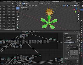 3D model Magic Flower - Geometry Nodes