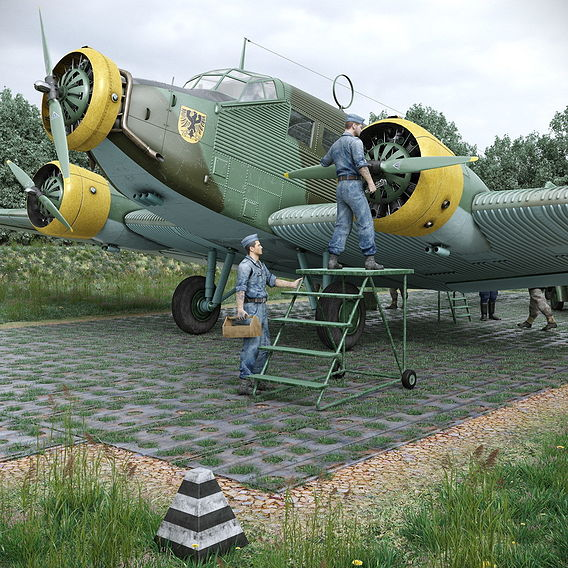 Ju-52 exterior
