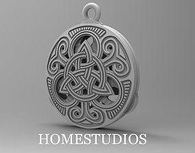 RUNIC PENDANT 50 TWO PARTS 3D printable model