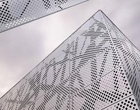 3D perforated metal panel N1