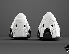 Crew Dragon Keyring - SpaceX Dragon 3D printable model