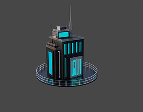 low poly cyberbuild by cyberalex 3D model