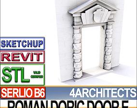 Renaissance Doric Door E Revit stl 3D print model