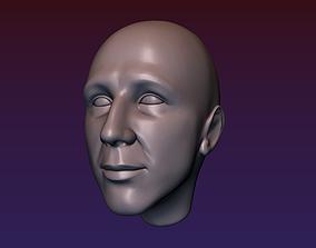3D printable model Man head 7 - Bald head