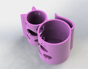 Cat Pen Holder Water 3D printable model