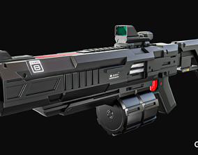3D model Sci-fi gun G2