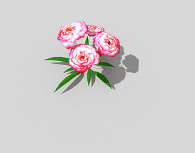 3D asset game-ready low poly flower decoration