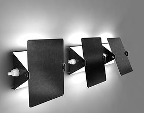 Wall Lights by Charlotte Perriand 3D
