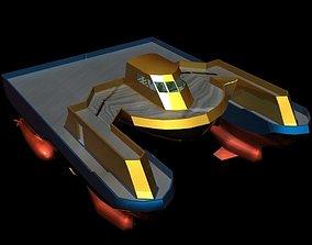 3D asset Sea Cutter Concept low poly Mat