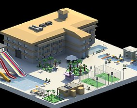 3D model Low Poly Holiday Resort