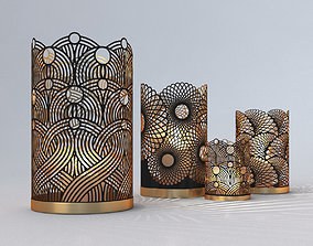 3D model Decorative Openwork Candle Holders