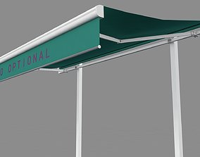 3D Hinged Awning Conopy
